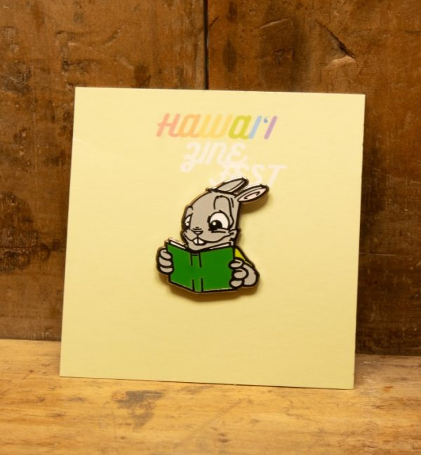 Scribeswalk & Zinefest - Reader Rabbit Enamel Pin